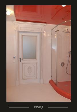 Дверь Ирида межкомнатная белого цвета