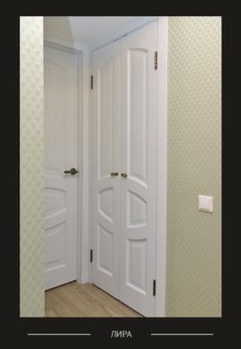 Межкомнатная дверь Лира белого цвета
