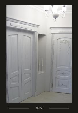 Дверь Лира, белая эмаль