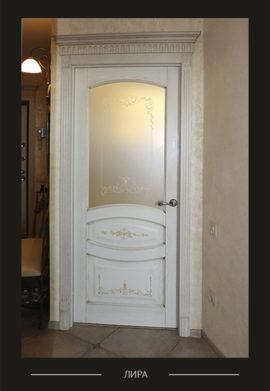 Дверь молочно белого цвета межкомнатная